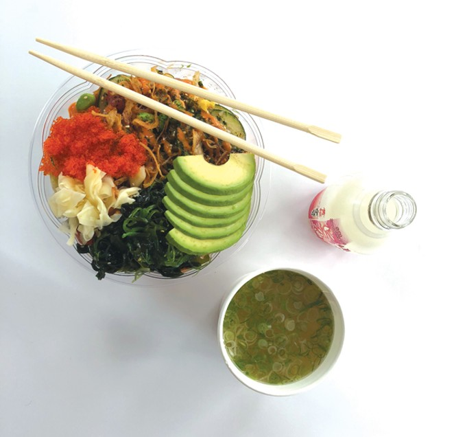 It's all about what you like when you build your own bowl at Poke Row. - LISA SIPE