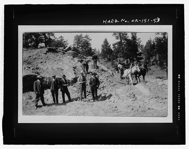 A historical photo of what is now part of the Tumalo Irrigation District. - PICRYL