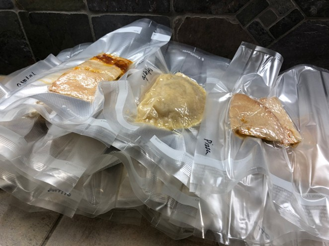 By pre-portioning and vacuum sealing meals, feeding an athlete during a race is as simple as boiling water. - LISA SIPE [RACE-FOOD-PHOTO-BY-LISA-SIPE-1.JPG]