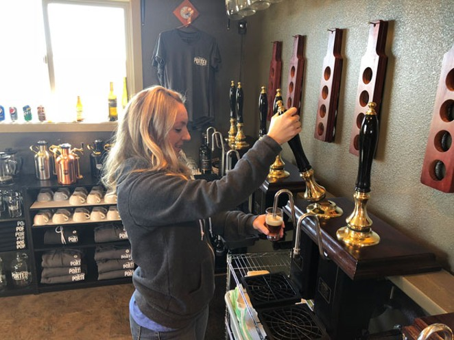 Cask ale requires a different tap, so you can only find Porter Brewing Co. ales at the tasting room. - LISA SIPE