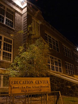 The Bend-La Pine Schools Education Center is one of many buildings purported to be haunted in Bend. - KEELY DAMARA