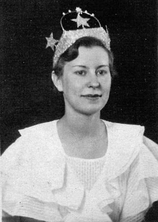 1934 Water Pageant Queen Lois Maker. - DESCHUTES COUNTY HISTORICAL SOCIETY