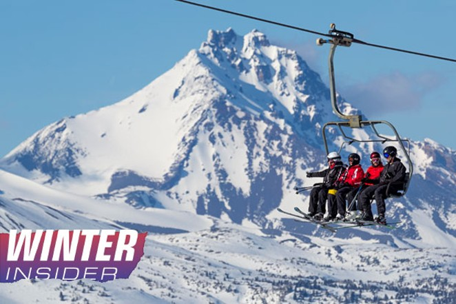 Skiers quad up at Mt. Bachelor. - JEFFREY MURRAY