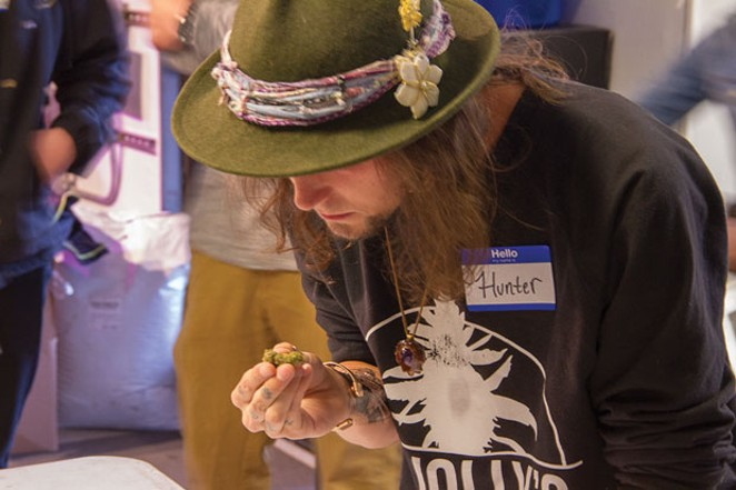 Hunter Chalker of Dr. Jolly's identifies the strain. - KEELY DAMARA
