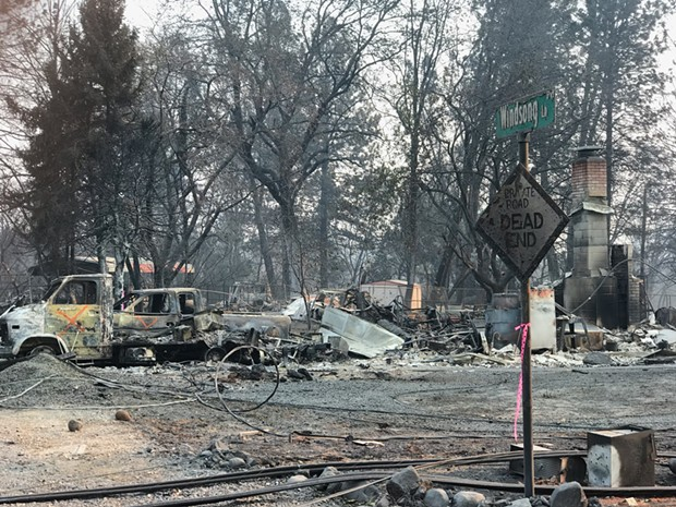 Bendite Patric Douglas visited Paradise, Calif. Nov. 17-18, delivering tent trailers to Bend Fire crews assisting with the fire that ravaged the town. Hundreds are still missing in the wake of that fire. - PATRIC DOUGLAS