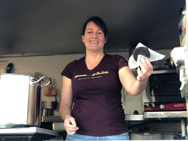 Lawyer turned chef Wendy Hickey dishes Italian treats from her food truck. - LISA SIPE