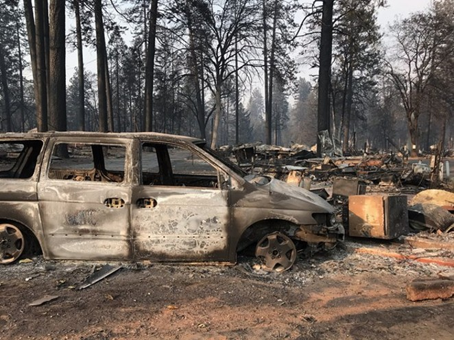 Aftermath from the Camp Fire in Paradise, Calif. - PATRIC DOUGLAS