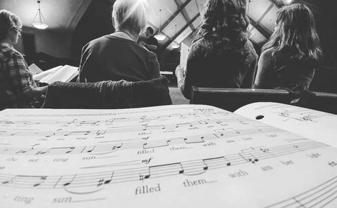 Singers rehearse for Rutter's Magnificat - SUBMITTED PHOTO