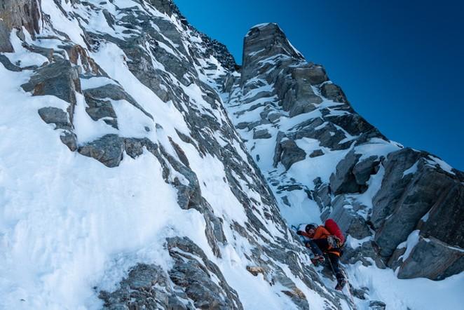 Mixed climbing on Mt. MacDonald. - CHRIS WRIGHT