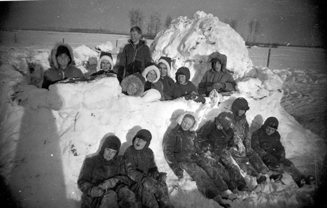 It's a time-honored tradition: Building a snow fort, and then wailing on your friends and neighbors with well-crafted snowballs. - WIKIMEDIA COMMONS