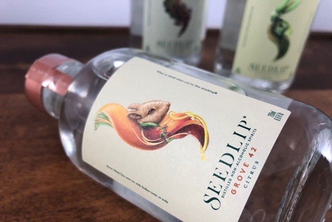 The only buzz you'll get from a Seedlip non-alcoholic cocktail is from happy taste buds. - LISA SIPE