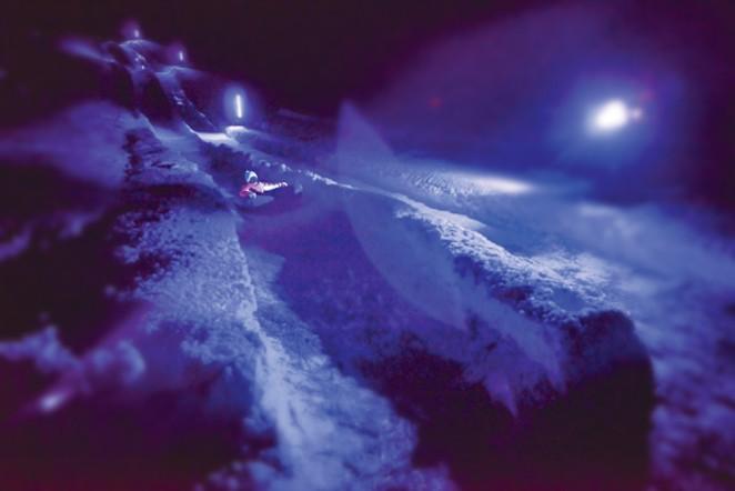 Tube on down at SHARC's Blacklight Blast. - LINDA DONAHUE