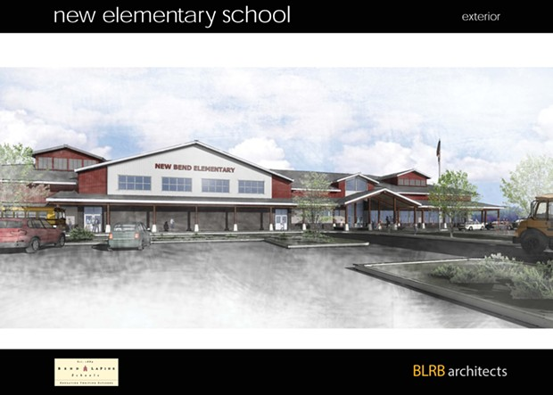 A rendering of the as-yet-unnamed new elementary school in north-central Bend. - BEND-LA PINE SCHOOLS