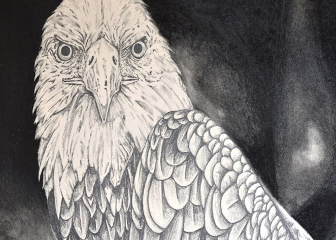 Redmond High School student McCaylie Capps' abstract drawing of an eagle for the 5th Annual Eagle Watch art contest. Organizers will hand out awards in the contest Saturday. - SUBMITTED