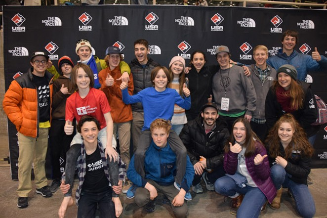 The entire Bend Endurance Academy team turned out to support Capicchioni and Perullo at Nationals. - YON PERULLO
