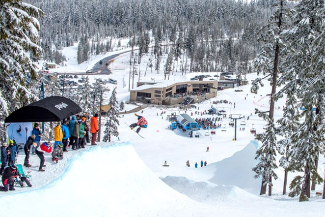 The 2019 Gerry Lopez Big Wave Challenge is a one-of-a-kind freestyle snowboard snow-surfing event with an aloha spirit. - COURTESY MT. BACHELOR