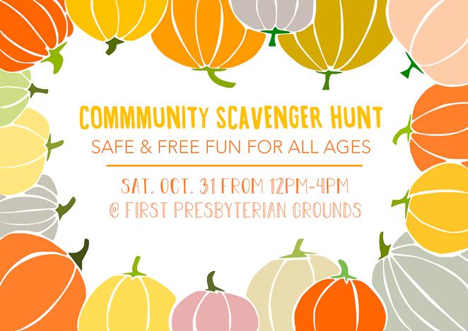 Halloween Scavenger Hunt at First Presbyterian