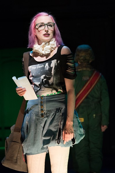 """Royer Bockus plays punk-rock Helen in """"All's Well That Ends Well."""" - JENNY GRAHAM"""