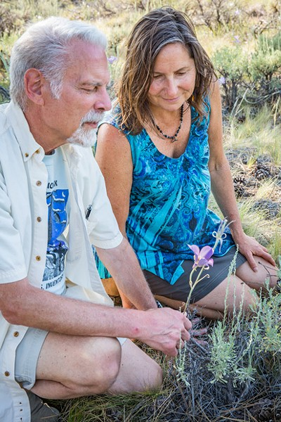 Bill Kuhn and Paula Latasa-Kinzer inspect the love of Kuhn's life, 