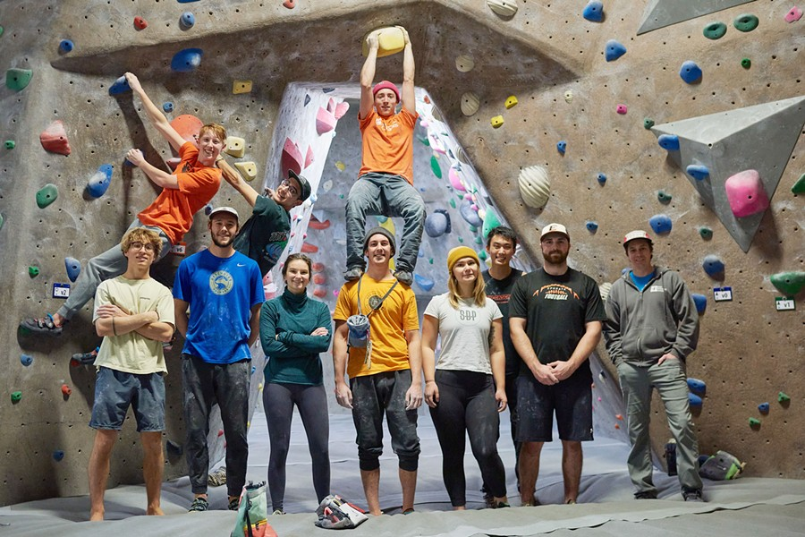 "These OSU-Cascades climbers, members of the Rock Climbing Sports Team, are just looking for ""problems."" - OREGON STATE UNIVERSITY"