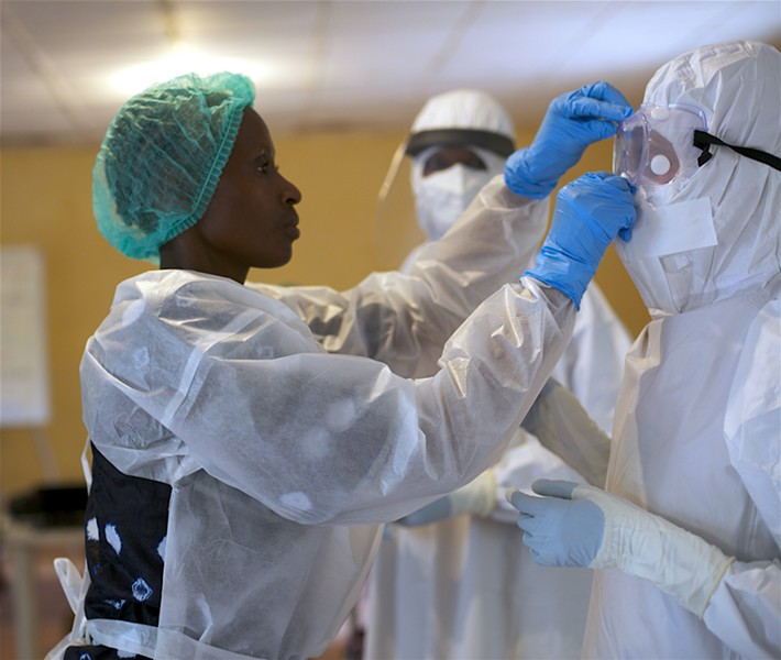 A shortage of Personal Protective Equipment worldwide has resulted in critical shortage in Central Oregon, too—including shortages of N95 masks, gowns and nitrile exam gloves. - CDC GLOBAL, FLICKR