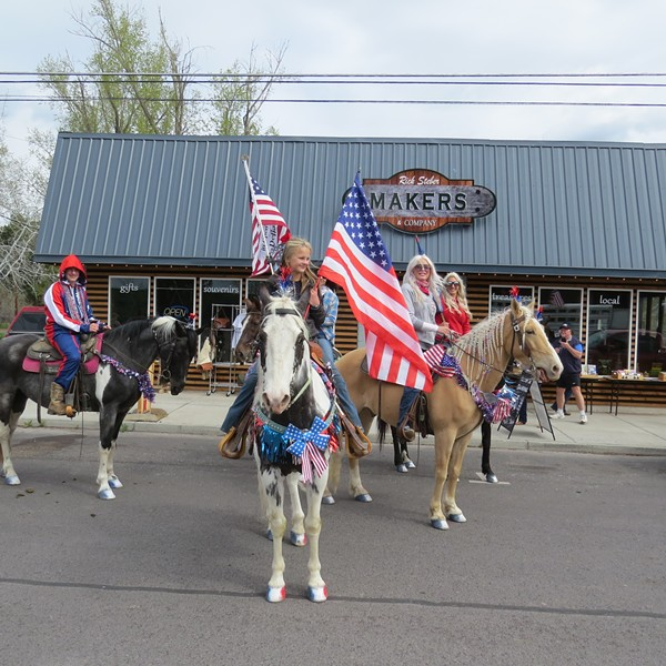 Party-goers plea for the reopening of Crook County's local economy. - RICK STEBER