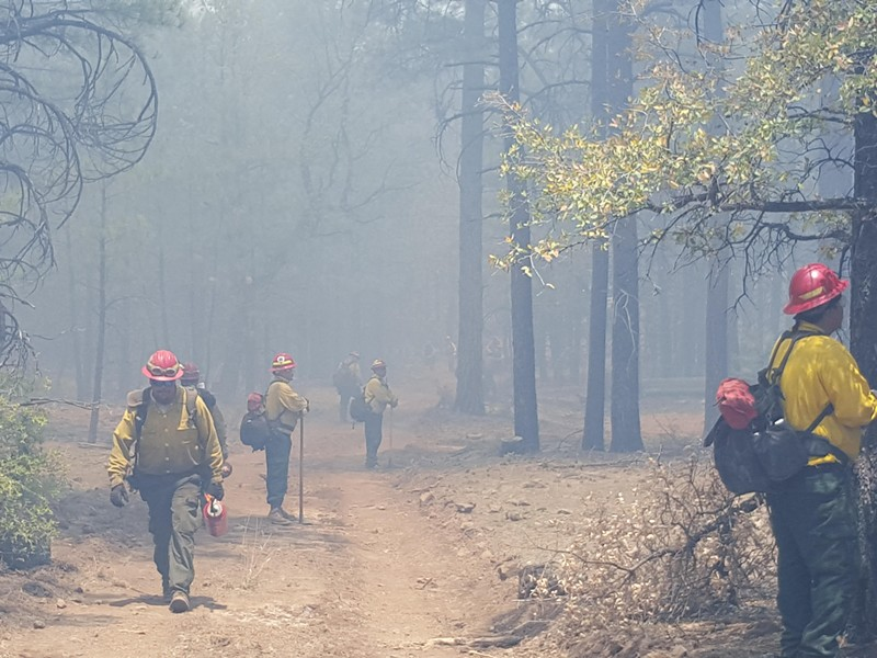 Crews work the Nena Springs fire Saturday. - IMAGE COURTESY INCIWEB