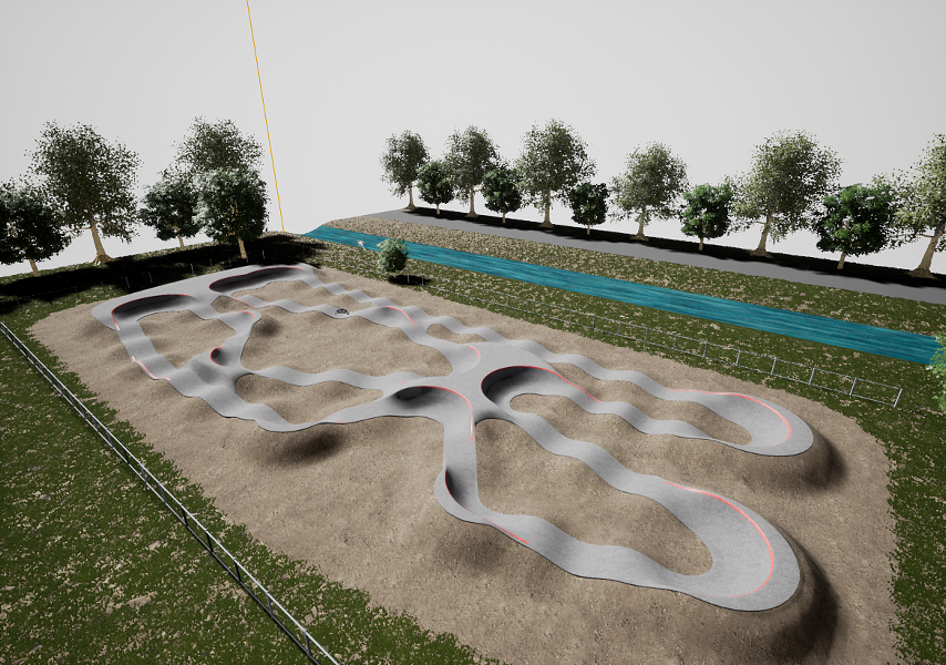 A rendering of the proposed asphalt pump track slated for construction at Homestead Park in Redmond. - CITY OF REDMOND/VELOSOLUTIONS