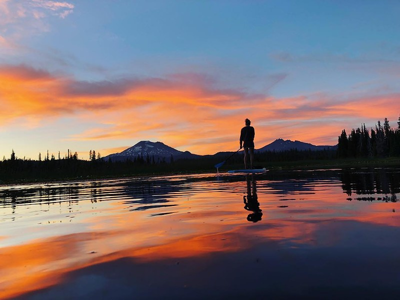 @mckennalboen paddles off into the sunset...of summer. Tag@sourceweekly and show up here. - SUBMITTED
