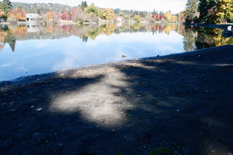 Mirror Pond is about two feet lower than usual for this time of year. - CHRIS MILLER