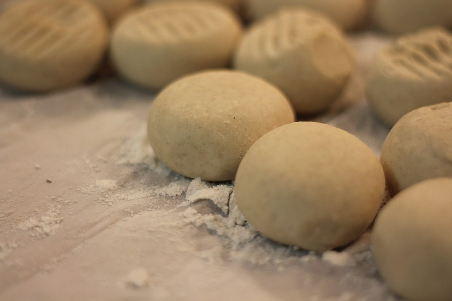 Flour tortilla balls ready for the making. - PIXABAY