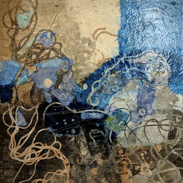 Jeanette Small's work incorporates abstract visuals through printmaking and other mediums. - SUBMITTED