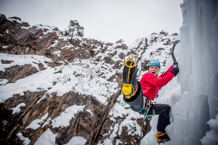 Angela VanWiemmeesch doing what she does best! - ROB DAWSON