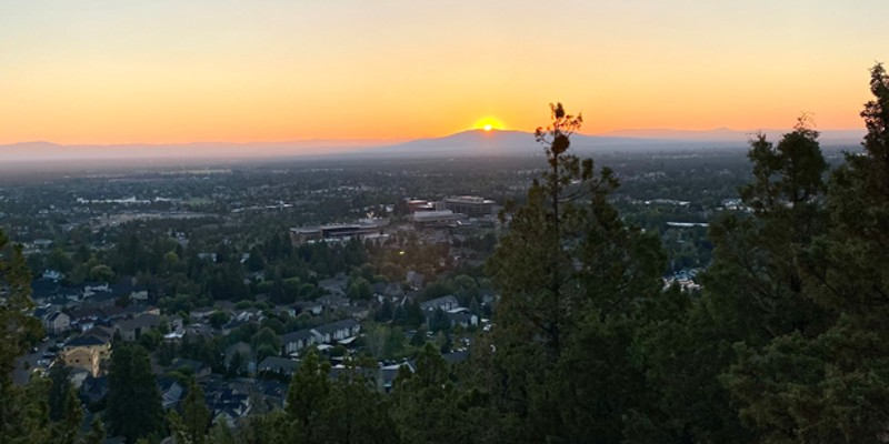 This impressive view, from the top of Pilot Butte, requires only a quick in-town hike to the top.