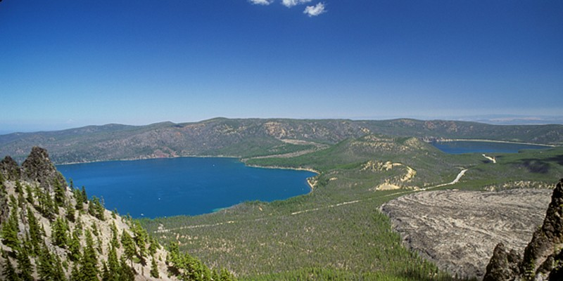 Paulina and East Lakes in the Newberry Crater National Volcanic Monument.