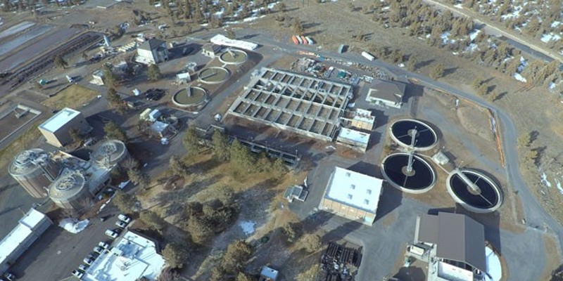 The City of Bend's Water Reclamation Facility near Powell Butte. Water from Bend takes about seven to eight hours to flow to this facility, where it undergoes a multiple-step process to be treated.