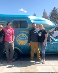 Stormie and Justin Van Patten, Tyler and Lorena Mathers, from left.