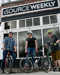 The 20/40/60 team sets out from the Source office to navigate the mean streets of Bend.