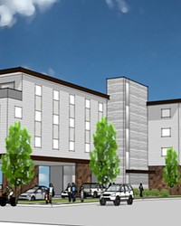 A draft rendering shows Housing Works' planned building, Carnelian Place, at Northeast Conners Avenue in Bend. It will include medical services from Mosaic Medical on the ground floor.