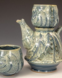 """Spirit Pot"" by Justin LeBart Journeyman Ceramics, stoneware."