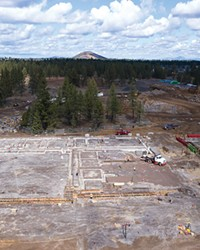 Making progress: construction continues at Bend's new high school.