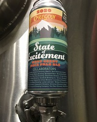State of Excitement IPA, perched on a zwickel.