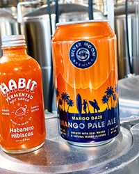 Silver Moon's Mango Daze Pale Ale gets paired with Habit's Habanero Hibiscus.
