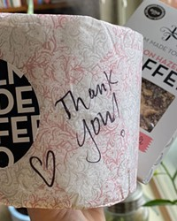 My Holm Made Toffee delivery included a toilet paper thank you note clearly showing they still have their sense of humor.