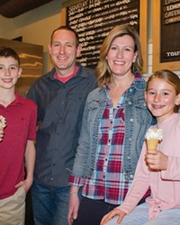 Jeff and Juli Labhart and family at Bonta Gelato's downtown location.