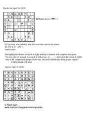 Pearl's Puzzle - Week of 4/16