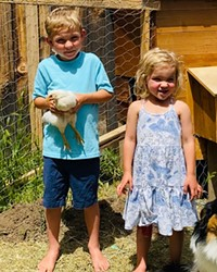 Christy Tanner bought chicks during Easter in order to be prepared if the family needs a protein source. She says the chickens bring a lot of joy to her three young children and mini Australian Shepard.