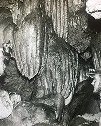Loving the natural world, above and below ground... A reader shared this photo of longtime Source Natural World contributor, Jim Anderson, at right, inside the Lavacicle Caves with a caving pal in the late '50s or early '60s. Classic!
