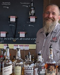 Check out this tasting lineup and get schooled by Rick Molitor at New Basin Distillery.