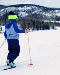 Nordic skiing is fun for the whole family.